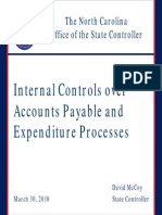 Internal Controls Over AP and Expenditure Processes