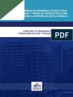 AGIES NSE 2-10 DEMANDAS ESTRUCTURALES, CONDICIONES DE SITIO Y NIVELES DE PROTECCIÓN