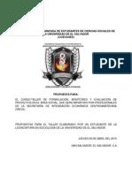 Propuesta Para El Taller de Formulacion ,Evaluacion y Monitoreo SIECA 2015