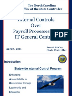 Internal Controls Over Payroll Processes and IT General Controls