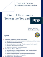 Control Environment Tone at the Top and Ethics