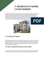 3 Tips Jitu Membangun Model Rumah Modern