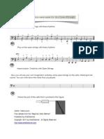 Cello Open Strings Exercises
