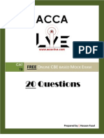 www.acca-live.com | CAT - T3 FREE Online CBE based Mock Exam