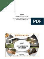 Reporte SOS Patrimonio en Peligro - Fundación TAPA Costa de Marfil