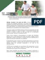 11-04-2015 Presenta Nerio Torres Arcila Solicitud de Debate Al IEPAC