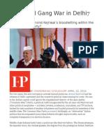 A Political Gang War in Delhi