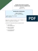 Introducción a la Informática / Unidad Nº2 / Actividad Nº1