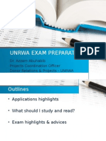 Unrwa Exam