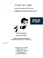 Youth Group Rec Center Flyer April 2015