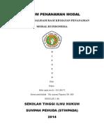 Tugas Penanaman Modal Asing di hukum