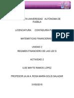 a2 u2 Regimen Financiero de Las Udis