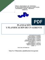 Tema 9 Planeacion y Planificacion Gerencial