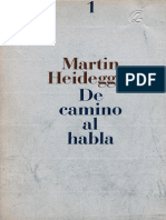 Heidegger de Camino Al Habla