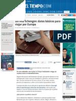 Viajar Por Europa Sin Visa Schengen - Noticias de Salud, Educación, Turismo, Ciencia, Ecología y Vid