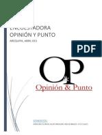 I encuesta CIEN DIAS DE GESTION REGIONAL Y MUNICIPAL ABRIL 2015 opinion y punto1.pdfl y Municipal Abril 2015 Opinion y Punto1