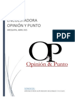I encuesta CIEN DIAS DE GESTION REGIONAL Y MUNICIPAL ABRIL 2015 opinion y punto1.pdfl y Municipal Abril 2015 Opinion y Punto1