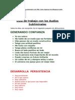 Afirmaciones Subliminales- Audios