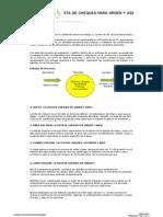 Lista de Chequeo Orden y Aseo - Prevención de Caídas