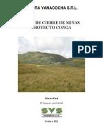 Proyecto Conga Plan de Cierre de Minas Octubre 2011 Web