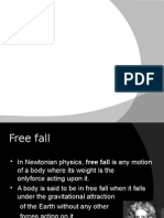 Physics-freefall and Projectile Motion