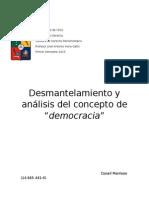 Desmantelamiento del Concepto de Democracia