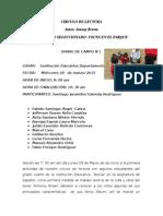 Diarios de Campo Actividades Circulo de Lectura 1, 2, 3.