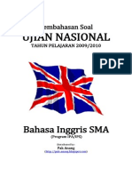 Pembahasan Soal UN Bahasa Inggris SMA 2010