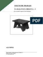 5 Proyecto Trabajo Planos Banqueta Baja Pata Inclinada Madera