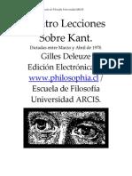 DELEUZE, Gilles (1978) - Cuatro Lecciones Sobre Kant (ARCIS)