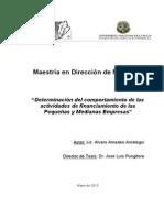 determinacion del comportamiento de las actividades de financiamiento de las  pymes.pdf
