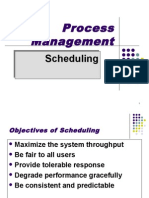 Operating System - Scheduling