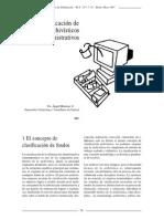 La Clasificación de Los Fondos Archivísticos Administrativos