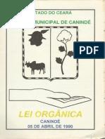 Lei Orgânica Canindé - CE