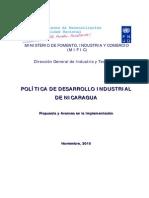 Política de Desarrollo Industrial de Nicaragua