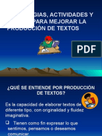 Producción de Textos. Power Point
