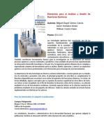 Elemetos Para El Analisis y Diseo de Reactores Quimicos