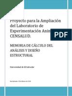 Memoria de Calculo de Análisis y Diseño Estructural