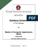 Punjab Technical University Jalandhar Syllabus Scheme