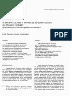 Jose Ramon Garcia Menendez - El legado de Popper al realismo critico en ciencias sociales
