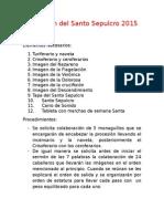 Procesión Del Santo Sepulcro 2015