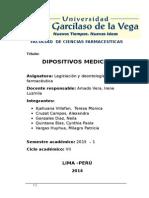 Legislacion Dispositivos Medicos Monografia