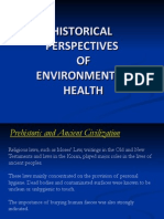 Historical Perspective of Environmental Health