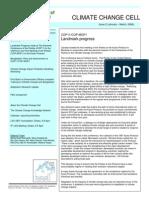 Climate Change Cell -Information Bulletin _ COP11-A Land Mass Progress