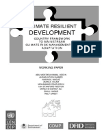 Climate Resilient Development Country Framework to Mainstream Climate Risk Management and Adaptation - 2006
