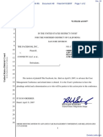 The Facebook, Inc. v. Connectu, LLC et al - Document No. 49