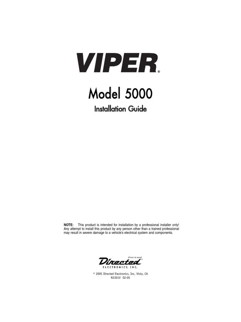 [TBQL_4184]  Viper 5000 Installations Guide   Relay   Security Alarm   Viper 5000 Wiring Diagram      Scribd
