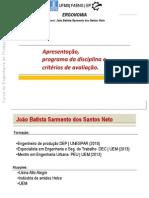 Módulo 1- Programa e Critérios