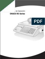 Manual de Balanzas Ohaus Serie RS