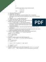 Soal Latihan MA 2513